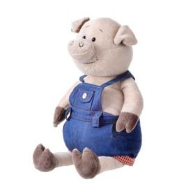 Мягкая игрушка Same Toy Поросенок в джинсовом комбинезоне 2
